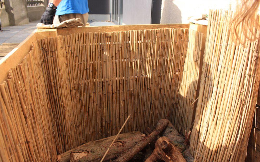 Vischers Hochbeete – Hasendraht, Schilfmatten und endlich Erde!