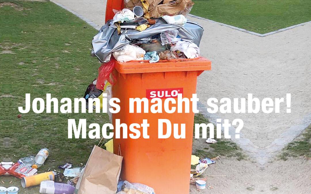 "Aufräumaktion ""Johannis macht sauber"""